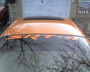 Dodge SRT-4 windshield banner decal