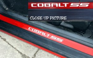 Chevy Chevrolet Cobalt SS door sill vinyl decal decals