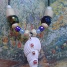"20"" handmade seashell necklace with pony, seed and wood beads"