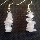 pair of handcrafted pink quartz earrings