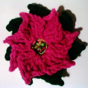 Poinsettias Crochet Pattern PDF File #3580