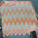 Narrow Chevron Ripple Afghan Crochet Pattern PDF File 107e
