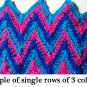 Narrow Chevron Ripple Afghan Crochet Pattern PDF File 107e