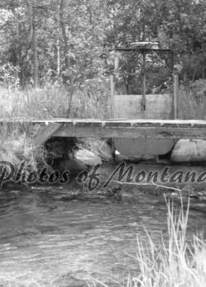 5x7 Photo ~ Black & White #002 Irrigation and Bridge