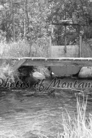 4x6 Photo ~ Black & White #002 Irrigation and Bridge