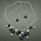 Black necklace and earring set!!!