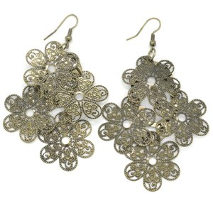 Brass flower earrings