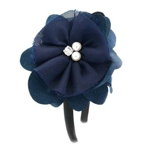 Navy blue flower headband