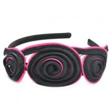 Pink and Black swirl headband
