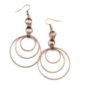 Circle copper earrings