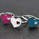 One child size heart silver ring - choose color