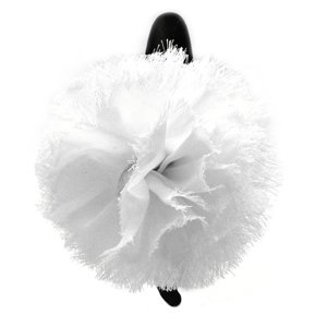 White flower on black headband