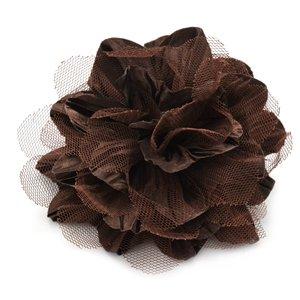 Brown flower hair clip
