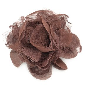 Light brown flower hair clip