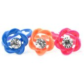 One child's rose rhinestone ring - choose color