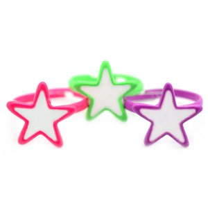 One child's neon star ring - choose color