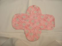 Daisy pink cotton cloth menstrual pad
