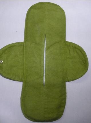 Green cotton cloth menstrual pad