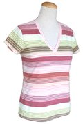 Stripe v-neck : Autumn stripe (RM62)