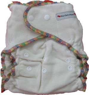 One Size Bamboo Fitted Diaper