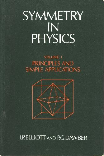 Symmetry in Physics Volume 1 : Principles and Simple Applications