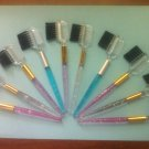 NEW Eyelash Extension Colorful Brow & Lash Comb & Brush Qty: 12 lot NEW