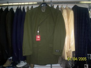Olive Green Il Canto Suit 2 peice