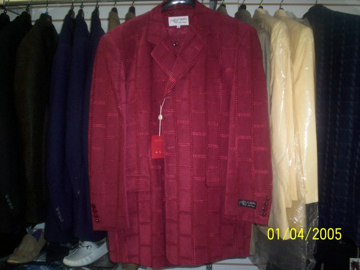 Burgundy Il Canto Suit