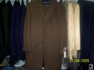 Long Brown Jacket Suit