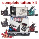 Tattoo Kits 5 New Machine Gun Power Needles 10 Ink