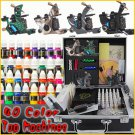 Professional Tattoo Kit 4 Machine Gun 40 Ink Power Set