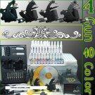Tattoo Kit 4 New Machine Guns Power Needle 40 Ink