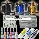 Tattoo Kits 3 Motor Machines Guns Set Equipment Inks
