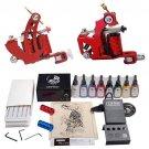 Beginner Tattoo Kit 2 Machines Ink Power Set