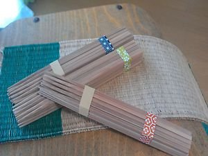 JAPANESE TRADITIONAL NATURAL BAMBOO CHOPSTICKS SET OF 20 NATURAL  CONCEPT