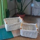 WOOD BASKET  B GREAT FOR ORGANIZATION AND DECORATION