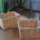 NATURAL WOOD BASKET GREAT FOR ORGANIZATION AND DECORATION