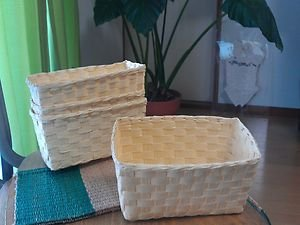 NATURAL PAPER BASKET GREAT FOR ORGANIZATION AND DECORATION