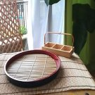 2 SETS OF JAPANESE TRADITIONAL ZARUSOBA PLATE BAMBOO MAT NATURAL  CONCEPT