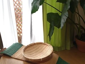 JAPANESE TRADITIONAL BAMBOO�PLATE OF 2  ZARUSOBA NOODLE TEMPRA NATURAL  CONCEPT