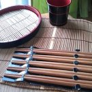JAPANESE TRADITIONAL NATURAL BAMBOO CHOPSTICKS SET OF 5 NATURAL  CONCEPT