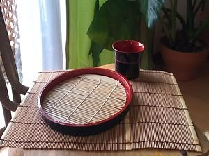 JAPANESE TRADITIONAL BAMBOO LUNCHEON MAT DARK COLOR NATURAL  CONCEPT