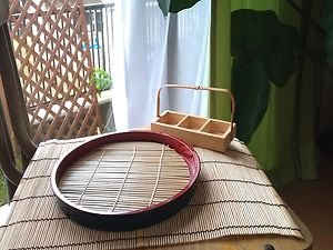 JAPANESE TRADITIONAL ZARUSOBA PLATE BAMBOO MAT NATURAL  CONCEPT