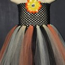 Fall Colors | baby girls crochet top tutu dress [knee length]