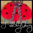 LIL' LADYBUG | TODDLER girls BOWS 'n BLING tutu