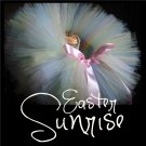 EASTER SUNRISE | TODDLER girls BOWS 'n BLING tutu