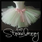 MINT STRAWBERRY | TODDLER girls BOWS 'n BLING tutu
