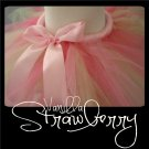 STRAWBERRY VANILLA | TODDLER girls BOWS 'n BLING tutu