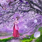 Japan Jigsaw Puzzle - Cherry breezes by Fantasy artist by Shu Mizoguchi Shipping Worldwide