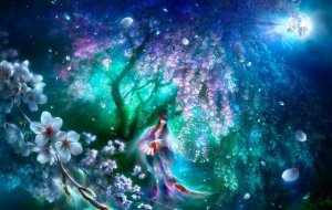 Japan Jigsaw Puzzle - Cherry haze by Fantasy artist by Shu Mizoguchi Shipping Worldwide